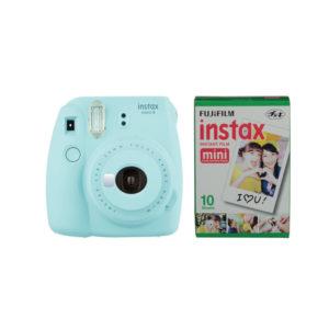 Fujifilm instax mini 9 Camera Ice Blue with Instant Film Kit 10 Sheets mega kosovo prishtina pristina skopje