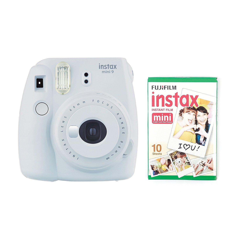 Fujifilm Instax Mini 9 Camera Smokey White With Instant