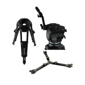 Cartoni Focus HD Fluid Head & Two Stage Aluminum Alloy Smart Stop Tripod mega kosovo prishtina