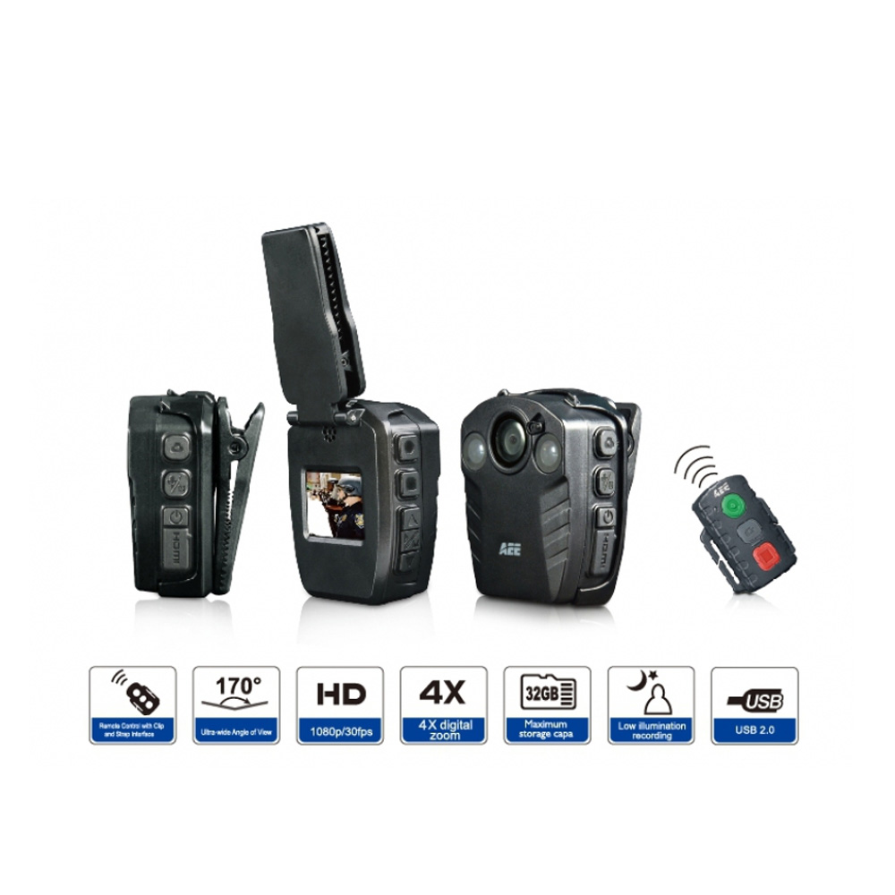 AEE PD77G Body Worn Camera for Police and Security Camera
