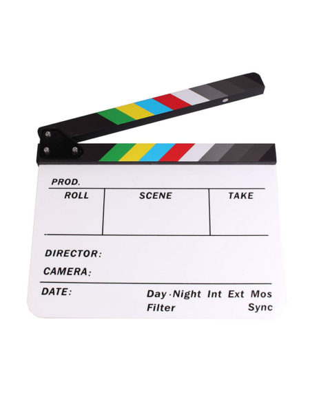 Clapperboard for movie AP-05T White Colorful mega kosovo prishtina pristina skopje