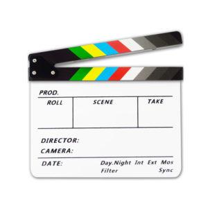 Clapperboard for movie AP-05T White Colorful mega kosovo prishtina pristina skopje