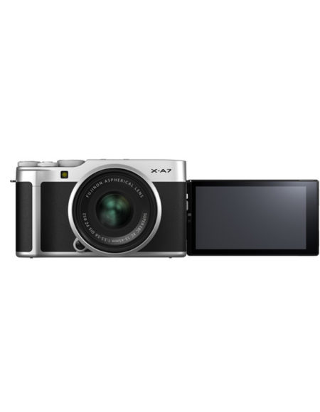 FUJIFILM X-A7 Mirrorless Digital Camera with 15-45mm Lens Silver mega kosovo prishtina pristina skpoje