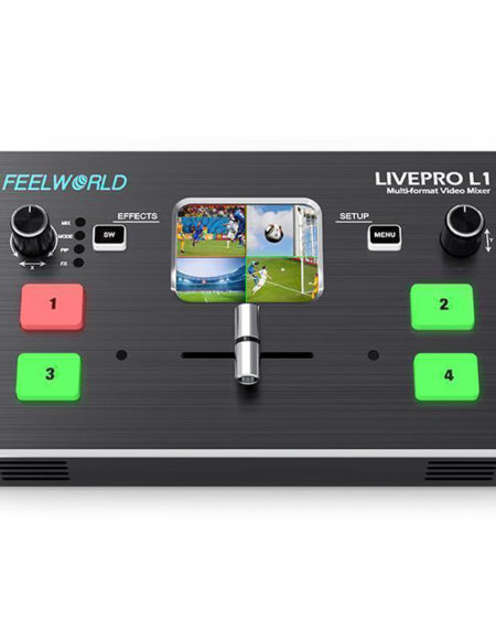 FEELWORLD LIVEPRO L1 Multi format Video Mixer Switcher 4 x HDMI inputs multi camera production USB 3.0 live streaming mega kosovo kosova prishtina pristina skopje