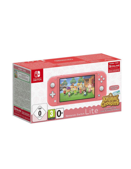 Nintendo Switch Lite Coral Pink & Animal Crossing & 3 Months Nso mega kosovo kosova