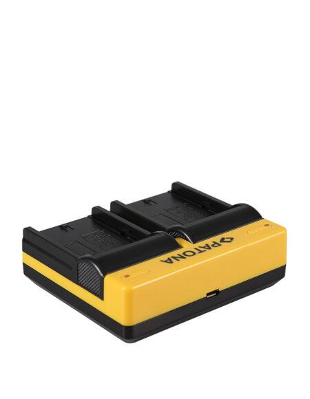 PATONA Dual Charger For Sony NP-FM50 DZ-MV-DZMV200A DZ-MV200A DZMV200E DZ-MV200E Micro USB Included mega kosovo kosova pristina prishtina