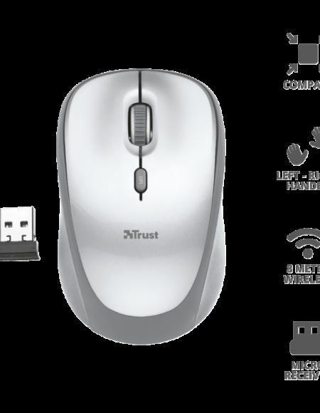 Trust Yvi Wireless Mouse White mega kosovo kosova pristina prishtina