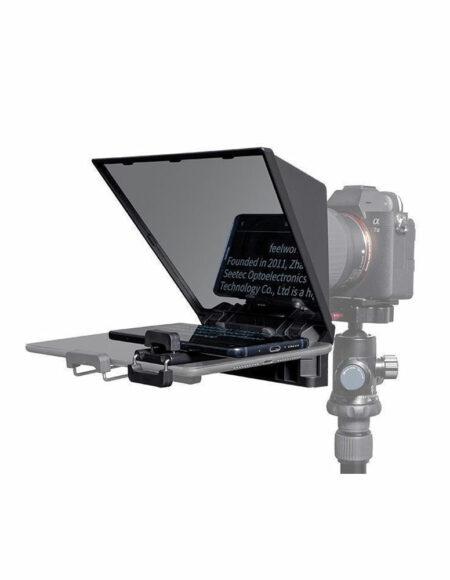 FEELWORLD TP2 Portable Teleprompter for Smartphone/Tablet/DSLR Camera with Remote Control & Lens Adapter Rings mega kosovo kosova pristina prishtina
