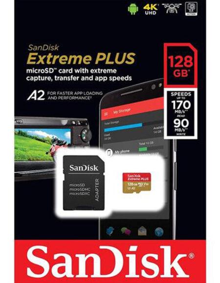 SanDisk 64GB 170mb/s Extreme UHS-I microSDXC Memory Card A2 mega kosovo prishtina pristina kosova