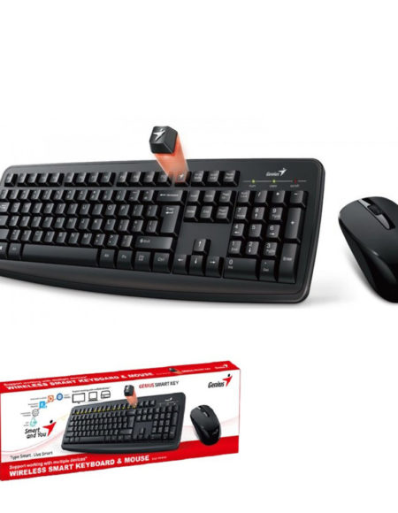 Genius Wifi Keyboard + Mouse Optical Smart KM-8100 Combo Black mega kosovo kosova pristina prishtina